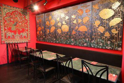 南インド料理レストラン「ダルマサーガラ」落ち着いた店内